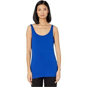 Eileen Fisher NWT Royal Blue Scoop Neck Slim Shell